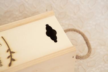 Caja de madera para botella de vino personalizada grabado laser