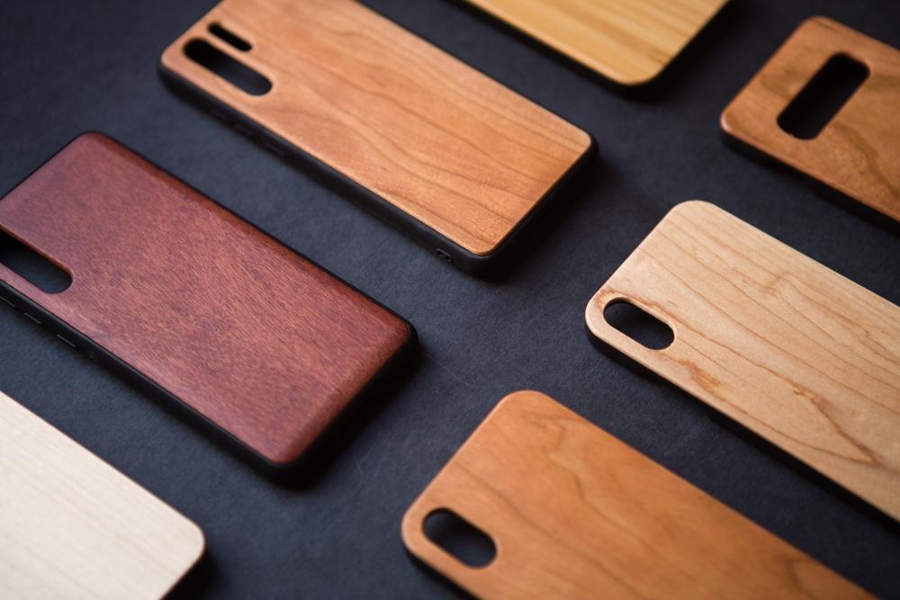 Funda de madera Samsung personalizada grabado con láser