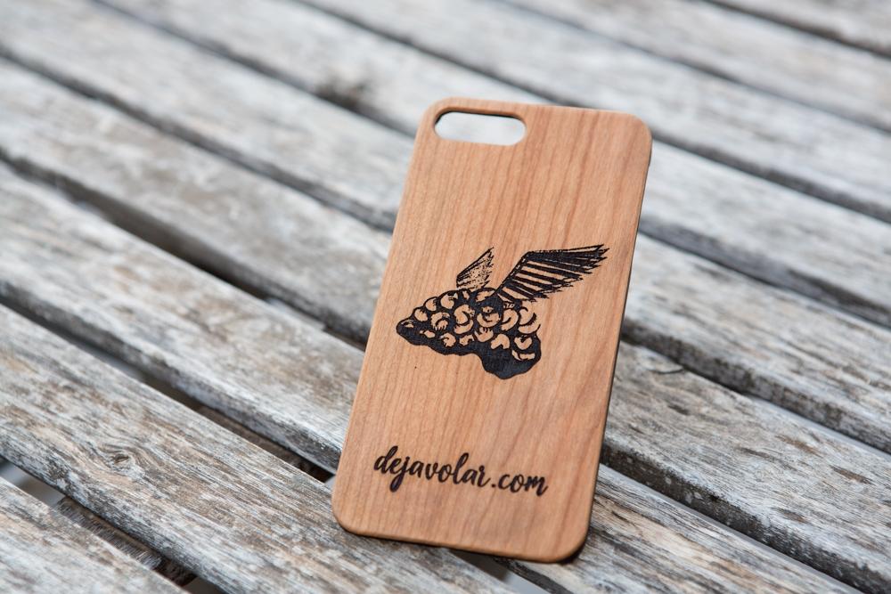 Funda de madera Iphone Personalizada grabado láser