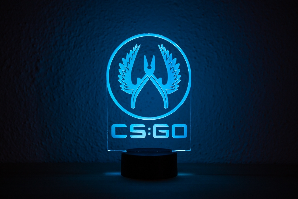 Lampara Led RGB CSGO – Decoracion Setup Gamer