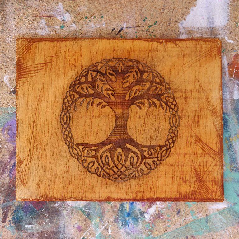 Arbol de la vida - decoracion natural en madera - cuadro artesanal