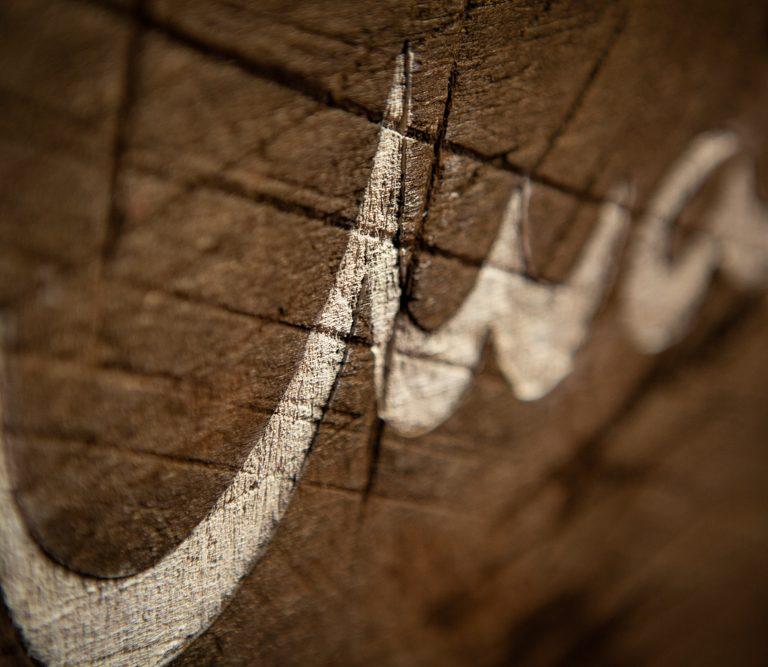 Cuadro madera Maktub - Pieza única artesanal hecha a mano en madera envejecida -