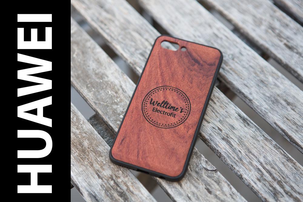 Funda madera Huawei grabado láser personalizado – P20 P30 Pro