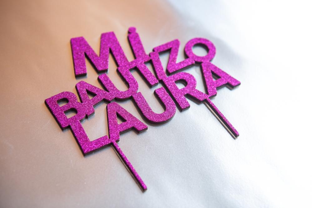 Toppers de tarta infantiles personalizados Cumpleaños Bautizo – Goma purpurina
