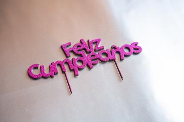 Toppers de tarta infantiles Prediseñados – Cumpleaños Bautizo – Goma purpurina